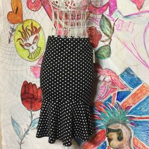 Mermaid Pencil Skirt Black Punk Rock Size S